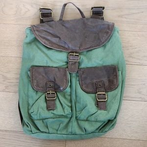 Mossimo Green and Brown Cargo Backpack